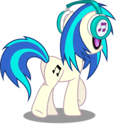 Size: 4635x5000 | Tagged: safe, artist:dashiesparkle, dj pon-3, vinyl scratch, pony, unicorn, slice of life (episode), .svg available, absurd resolution, cutie mark, dj boot-3, female, full body, headphones, hooves, horn, mare, plot, ponyscape, simple background, smiling, solo, sunglasses, transparent background, vector, walking