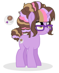 Size: 484x603 | Tagged: artist:unoriginai, cute, cutie mark, oc, oc:cosmic latte, oc only, offspring, parent:cheese sandwich, parents:twicheese, parent:twilight sparkle, safe, simple background, solo, transparent background