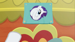 Size: 1100x618 | Tagged: safe, screencap, rarity, pony, spice up your life, meme, rariball, rating sign meme, solo