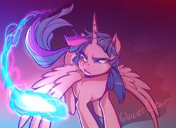 Size: 1024x745   Tagged: safe, artist:glacierclear, twilight sparkle, alicorn, pony, female, flying, mare, solo, twilight sparkle (alicorn)