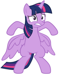 Size: 7000x8900 | Tagged: safe, artist:tardifice, twilight sparkle, alicorn, pony, the saddle row review, absurd resolution, bipedal, block, female, mare, photoshop, rearing, simple background, solo, spread wings, transparent background, twilight sparkle (alicorn), vector, wings