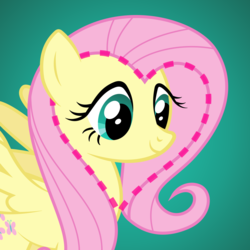 Size: 1080x1080 | Tagged: artist:letseathay, color, female, fluttershy, heart, illuminati, illuminati confirmed, mare, mind blown, pegasus, pony, safe, solo