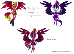 Size: 2232x1656 | Tagged: safe, artist:prettycelestia, sci-twi, sunset shimmer, twilight sparkle, equestria girls, earth is doomed, equestria is doomed, fusion, gem fusion, midnight sparkle, multiple arms, multiple eyes, steven universe, sunset satan, the multiverse is doomed, we have become one, what has science done, xk-class end-of-the-world scenario