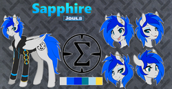 Size: 3500x1800 | Tagged: artist:spazzykoneko, bedroom eyes, clothes, cutie mark, expressions, eyebrow piercing, gauges, happy, hoodie, joule, oc, oc only, oc:sapphire sights, pegasus, piercing, pony, reference sheet, safe, smug, solo, source needed, surprised, tongue piercing