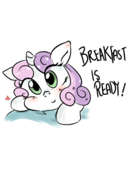 Size: 1280x1707 | Tagged: safe, artist:mrscurlystyles, sweetie belle, blushing, cooking, cute, diasweetes, female, food, solo, sweetie belle can't cook, sweetie fail, this will end in tears and/or breakfast