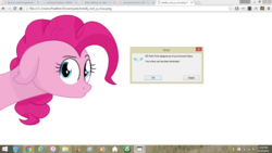 Size: 1366x768 | Tagged: artist:lillian, error message, google chrome, looking at you, ms paint, pinkie pie, ponk, safe, solo, tab humor, windows, windows 8, windows 8.1