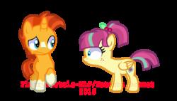 Size: 1225x698   Tagged: safe, artist:flurrypastels-mlp, sour sweet, sunburst, equestria girls, colt, colt sunburst, equestria girls ponified, female, filly, male, ponified, watermark, younger