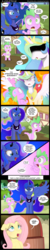 Size: 1000x5000 | Tagged: artist:coltsteelstallion, big macintosh, celestimac, comic, comic:a love letter, earth pony, fluttershy, kiss mark, male, pony, princess celestia, princess luna, safe, shipping, spike, stallion, straight