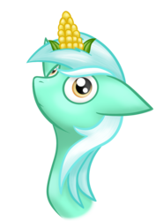 Size: 1334x1800 | Tagged: artist:meskitt, corn, food, lyracorn, lyra heartstrings, pun, safe, solo, visual pun, wat