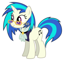Size: 3155x3000 | Tagged: a hearth's warming tail, artist:sollace, cutie mark, dj pon-3, female, hooves, horn, mare, pony, safe, simple background, smiling, solo, sunglasses, transparent background, unicorn, vector, victrola scratch, vinyl scratch