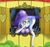 Size: 2520x2361 | Tagged: safe, artist:malifikyse, trixie, human, breasts, busty trixie, cape, clothes, female, hat, heart, humanized, solo, trixie's cape, trixie's hat, trixie's wagon, window