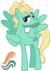 Size: 2800x3900 | Tagged: safe, artist:cheezedoodle96, zephyr breeze, pegasus, pony, flutter brutter, .svg available, bedroom eyes, cutie mark, looking at you, male, raised hoof, raised leg, simple background, solo, spread wings, svg, transparent background, vector