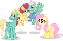 Size: 3165x2093 | Tagged: safe, artist:vector-brony, fluttershy, gentle breeze, posey shy, zephyr breeze, flutter brutter, clothes, family, floating, fluttershy's parents, glasses, inkscape, looking at you, necklace, pearl necklace, shys, simple background, the shy family, transparent background, vector