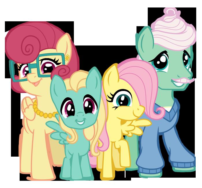 Výsledek obrázku pro mlp fluttershy family