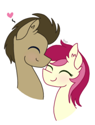 Size: 400x529 | Tagged: safe, artist:ivybrush, doctor whooves, roseluck, time turner, pony, doctor who, doctorrose, male, shipping, stallion, straight