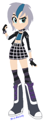 Size: 206x558 | Tagged: artist:giraffer98, belly button, bellyring, boots, bracelet, choker, clothes, equestria girls, equestria girls-ified, fingerless gloves, gloves, midriff, oc, oc:elizabat stormfeather, oc only, piercing, plaid, safe, skirt, socks, solo, spiked choker, spiked wristband, striped socks