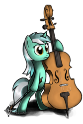Size: 1501x2250 | Tagged: safe, artist:tetrapony, lyra heartstrings, pony, bipedal, cello, musical instrument, simple background, solo, transparent background