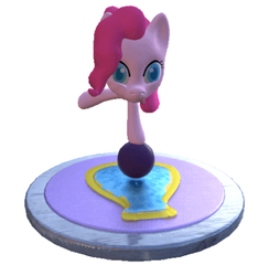 Size: 436x446 | Tagged: safe, artist:kaijeno, pinkie pie, 3d, balancing, ball, faic, solo, tongue out, zbrush