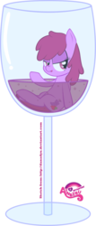 Size: 3000x7031   Tagged: safe, artist:atnezau, berry punch, berryshine, pony, alcohol, cup, cup of pony, drunk, female, glass, go home you're drunk, micro, simple background, smiling, solo, tongue out, transparent background, vector, wine, wine glass