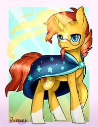 Size: 1538x1994 | Tagged: safe, artist:jazzerix, sunburst, pony, unicorn, magic, magic aura, male, solo, stallion