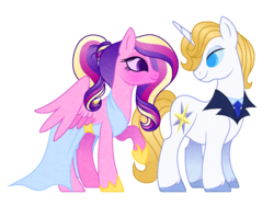 Size: 1024x768 | Tagged: artist:carouselunique, bluedance, blushing, clothes, dress, prince blueblood, princess cadance, safe, shipping, teenager, teen princess cadance