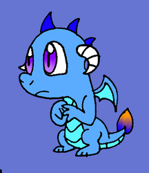 Size: 419x485 | Tagged: safe, artist:cmara, oc, oc only, unnamed oc, dragon, baby dragon, offspring, paint tool sai, parent:garble, parent:princess ember, parents:emble, simple background, solo