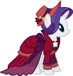 Size: 8638x9000 | Tagged: safe, artist:korsoo, merry, rarity, a hearth's warming tail, .svg available, absurd resolution, clothes, dress, female, hat, inkscape, simple background, solo, transparent background, vector