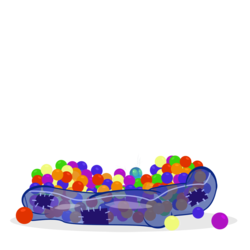Size: 1086x1085 | Tagged: artist:exovare, artist:pixelkitties, ball pit, dashcon, parasprite, safe, simple background, transparent background
