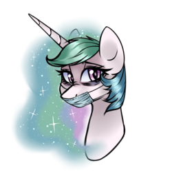 Size: 1024x1024 | Tagged: safe, artist:chloeprice228, princess celestia, pony, bags under eyes, female, mare, mask, sick, simple background, solo, surgical mask, transparent background