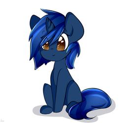 Size: 666x666   Tagged: safe, artist:avimod, oc, oc only, oc:starlight blossom, pony, unicorn, cute, female, filly, sitting, solo