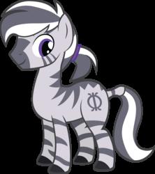 Size: 2716x3064 | Tagged: safe, artist:duskthebatpack, oc, oc only, oc:zimu, zebra, male, ponytail, simple background, solo, stallion, transparent background, vector