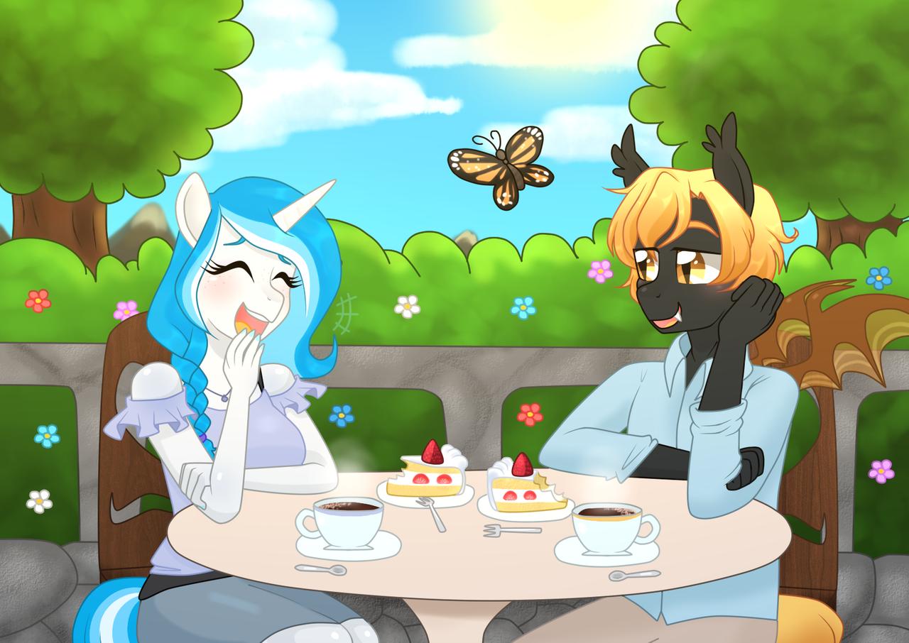 Unicorn dating a couple