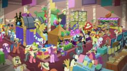 Size: 1280x720 | Tagged: safe, screencap, burning passion, carrot bun, daring do, endeavour, flare de mare, heart pacer, long shot, love sketch, mint condition, moonlight zephyr, ocean spray, peach fuzz, rainbow dash, shutterbug, sweet pepper, violet spark, earth pony, pegasus, pony, unicorn, stranger than fan fiction, ahuizotl cosplay, anime, background pony, balloon, carrot, carrot dog, clothes, colt, convention, cosplay, costume, daring do cosplay, daring do costume, doctor caballeron cosplay, fake ears, fake wings, female, filly, food, hat, male, mare, neckbeard, pith helmet, plot, purpura phlox, ranma 1/2, ranma saotome, sailor moon, stallion, tent, tsukino usagi, unnamed pony