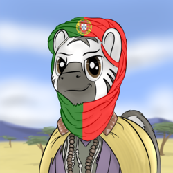 Size: 1000x1000 | Tagged: age of empires, age of empires ii, age of empires ii the african kingdoms, artist:gamesadict, edit, flag of portugal, /int/, meme, /pol/, ponified, portugal, safe, solo, t. alberto barbosa, video game, we wuz kings, zebra