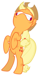 Size: 7000x13300 | Tagged: safe, artist:tardifice, applejack, pony, made in manehattan, absurd resolution, bipedal, dirty, female, gritted teeth, nose in the air, simple background, solo, transparent background, vector