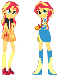 Size: 1536x2048 | Tagged: safe, artist:psshdjndofnsjdkan, sunset shimmer, equestria girls, alternate universe, clothes, school uniform