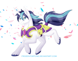 Size: 2838x2209 | Tagged: safe, artist:frozen-fortune, shining armor, ear fluff, petals, running, simple background, solo, transparent background