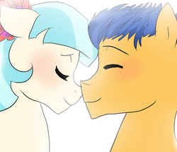 Size: 800x686 | Tagged: artist:h0mi3, blushing, coco pommel, cocosentry, crack shipping, flash sentry, kissing, safe, shipping