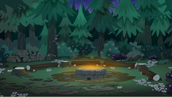 Size: 539x304   Tagged: safe, screencap, equestria girls, legend of everfree, background, camp everfree, campfire, no pony, photo, scenery