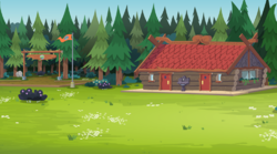 Size: 538x300   Tagged: safe, screencap, equestria girls, legend of everfree, camp everfree, flag, scenery