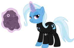 Size: 6074x3927   Tagged: safe, artist:sonofaskywalker, trixie, pony, unicorn, absurd resolution, clothes, crossover, female, galactic empire, helmet, magic, magic aura, mare, pilot, solo, star wars, telekinesis, tie pilot