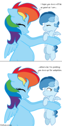 Size: 700x1428 | Tagged: safe, artist:sofialurax, rainbow dash, oc, offspring, parent:rainbow dash, parent:soarin', parents:soarindash, pregnant