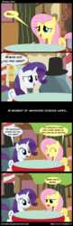 Size: 1650x5100 | Tagged: safe, artist:cipherpie, bloomberg, fluttershy, rarity, tom, cargo ship, comic, hat, shipping, speech bubble, top hat, tree