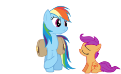 Size: 638x388   Tagged: safe, rainbow dash, scootaloo, just for sidekicks, sleepless in ponyville, animated, animated png, boop, cute, cutealoo, dashabetes, female, noseboop, nuzzling, scootalove, simple background, sweet dreams fuel, transparent background, wholesome