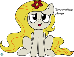 Size: 4000x3101 | Tagged: safe, artist:arifproject, oc, oc only, oc:yellowstar, pony, fanfic:the star in yellow, rainbow dash presents, dialogue, looking up, open mouth, simple background, sitting, smiling, the star in yellow, transparent background, vector