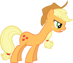 Size: 8277x7259   Tagged: safe, artist:tim015, applejack, the ticket master, absurd resolution, female, long neck, simple background, solo, transparent background, vector