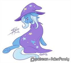 Size: 1280x1129 | Tagged: safe, artist:stepandy, trixie, pony, unicorn, blushing, female, lidded eyes, mare, smiling, solo, underhoof