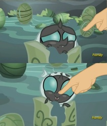 Size: 1119x1328 | Tagged: safe, edit, edited screencap, screencap, thorax, changeling, changeling larva, the times they are a changeling, boop, boop edit, cute, cuteling, frown, grub, hand, happy, larva, open mouth, sad, smiling, thorabetes
