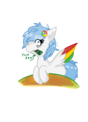 Size: 2408x3344 | Tagged: artist:jodi sli, browser ponies, looking at you, metaphor, oc, oc:google chrome, oc only, ram, random access memory, safe, simple background, solo, transparent background
