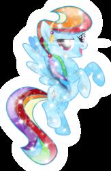 Size: 2584x3971   Tagged: safe, artist:infinitewarlock, rainbow dash, crystal pony, pony, crystallized, female, simple background, solo, transparent background